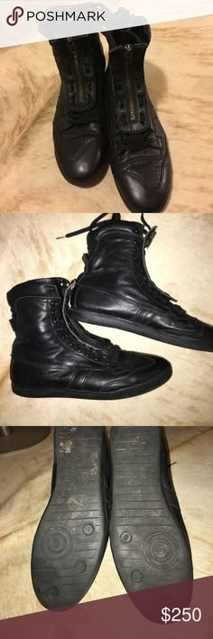 💯Authentic Christian Dior men shoes 💯Authentic Christian Dior men shoes black high tops in great condition Christian Dior Shoes Sneakers