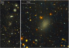 This Weird Galaxy Is 99.99 Percent Dark Matter. This dark galaxy, named Dragonfly 44, was first detected in 2015. It's as big as the Milky Way and consists almost entirely of dark matter, a mysterious and invisible substance that scientists have been trying to figure out for decades. Only one-hundredth of one percent of the galaxy is ordinary, visible matter like stars and planets. The other 99.99 percent of the stuff in this galaxy can't be seen.