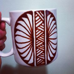 Custom mug with Tongan polynesian design. Polynesian Designs, South Pacific, Custom Mugs, Diy And Crafts, Exotic, Tableware, Artist, Dinnerware, Dishes
