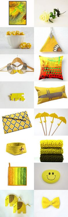 Yellow Gifts by Selviye on Etsy--Pinned with TreasuryPin.com
