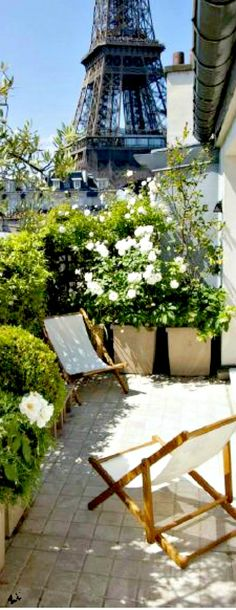 Travelling - Paris terrace.   Ahhhhhhhh, to sit here each morning with my coffee in hand...