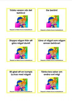 Mariaslekrum - Uppdragskort Preschool Friendship, Learn Swedish, Swedish Language, Felt Books, Social Skills, Teamwork, Montessori, Activities For Kids, Homeschool