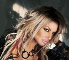 Rocker hair, love her makeup n hair