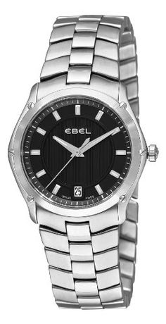 Ebel Women's 9954Q31/153450 Classic Sport Black Dial Watch -- Continue to the product at the image link.