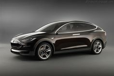 The 2013 Tesla Model X. The SUV has three rows and goes from 0 to 60 mph in less than five seconds. Take that, Porsche Cayenne! Click the link for more photos.