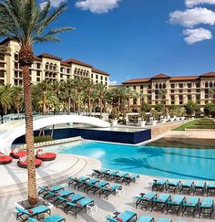 In a bid to escape the busy strip in Las Vegas, Lang beds down at Green Valley Ranch Resort and Spa in Henderson which is a suburb of Las Vegas