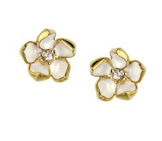 Shaun Leane Silver, Gold Vermeil and Topaz Small Blossom Studs SLS256 | C W Sellors Fine Jewellery and Luxury Watches