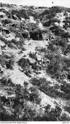 Gallipoli. View of the headquarters and bivouacs of the 10th Battalion on Bolton's Ridge.
