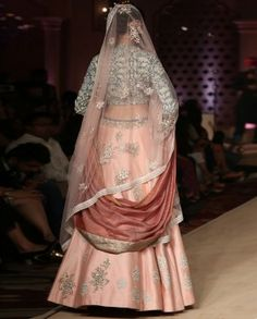 Bajirao Mastani Peach Lehenga Anju Modi Collection