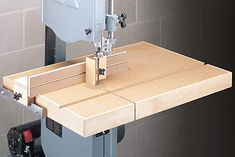 A perfect band saw table with a simple but dead accurate little fence.