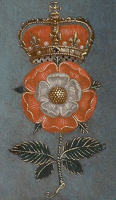 tiny-librarian: Tudor Rose detail from a portrait of Elizabeth I. Source