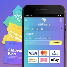 New Electric Love Festival Ticket-Shop. #Shopdesign #UI #UX #Festival #Tickets #ELF20 #ElectricLoveFestival