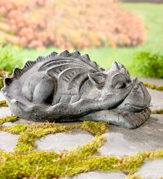 Concrete Sleeping Dragon Statue