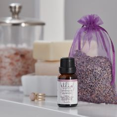 Find your balance with the soothing scent of lavender. To help clear the drama of the day, just clear a spot for your diffuser. Then, add five to seven drops of our lavender e Ellia Essential Oils, 100 Pure Essential Oils, Roll On Bottles, Small Bottles, Amber Glass Bottles, Lavandula Angustifolia, Carrier Oils, Lavender Oil, Smell Good
