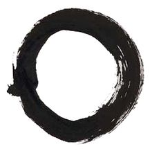 Der leere Kreis als Symbol für Wuji. (chinesisch 無極 / 无极)  See: https://www.youtube.com/watch?v=y07FauHYlmg&list=PL893E57D213E966C1&feature=player_detailpage#t=215  compare: http://de.wikipedia.org/wiki/Taiji_(chinesische_Philosophie)