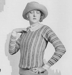 1920s Sweater Pattern the Malcolm and the Holden by MoreLooseEnds, $2.00