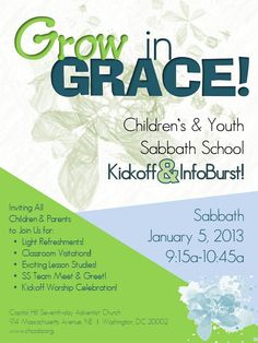 FLYER-Childrens and Youth SS Kickoff 1.5.2012    Capitol Hill SDA Church  Sabbath School