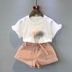 $10.63 AUD - Summer Kids Baby Girls Outfits Clothes T-Shirt Tops+Short Pants Shorts 2Pcs Set #ebay #Fashion