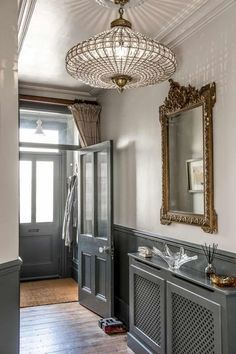 2017 Trends for Modern Hallway Design Apartments 2017 Trends for Modern Hallway Design Apartments is about creating the best lobby design standards to create comfort in your home so that it creates the ideal l Stairs And Hallway Ideas, Hallway Ideas Entrance Narrow, Modern Hallway, House Entrance, Entry Foyer, Upstairs Hallway, Entrance Halls, Foyer Ideas, Grey Hallway