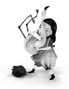 "Leicia Gotlibowski illustration for ""Alice in Wonderland""."