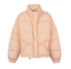 Pink High Neck Oversized Padded Coat   www.ustrendy.com   #USTrendy