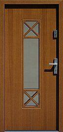 Drzwi zewnętrzne nowoczesne model 461,1 w kolorze złoty dąb