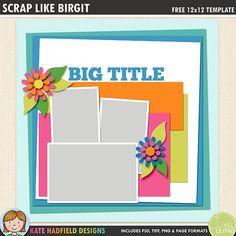 digital scrapbooking templates freebies