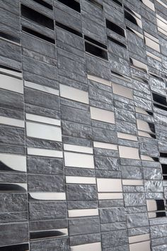 stone and metal effect mosaic wall tiles
