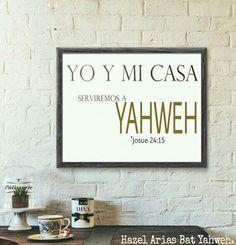 Yo te sirvo Yahweh y mi familia también. Lo declaró con mi ♥.
