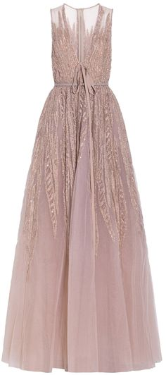 Embellished Sleeveless Gown