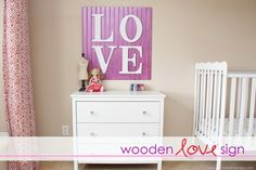 Wooden Letter Signs {Would be cute for kids names too!  }
