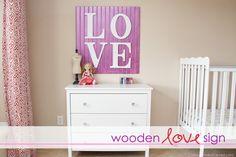 DIY letter art for baby room