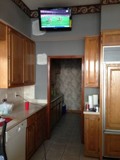 Kitchen flat-screen mounting www.sjpnetwork.com