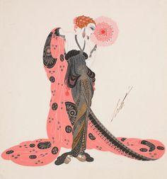 Fashion Illustration by designer Erte (1892-1990) via tumblr