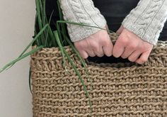Crocheted Jute Yarn Shopping Bag
