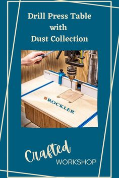 Johnny Brooke was sick of his drill press table, so he built a new one! You can watch this shop upgrade video by tapping here.  #createwithconfidence #drillpress #craftedworkshop #drillpresstable #dustcollection