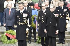 Crown Prince Frederik of Denmark marks the 70th of the liberation of Denmark May 5, 2015