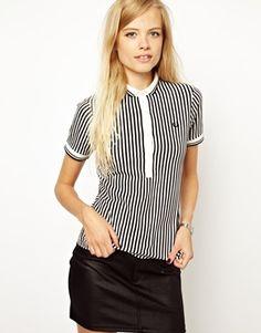 Fred Perry // Black Print Stripe Shirt