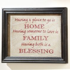 Home Family Blessing Stitchery