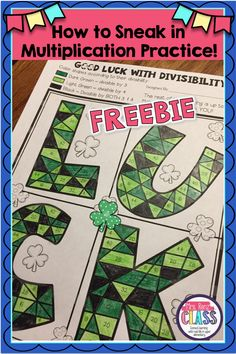 Gap Filler using the divisibility rule and St. Patrick's Day!!  Students practice their multiplication (divisibility) while also getting to use their creative side.  Integrate art and math!!  Divisibility Practice.  Multiplication Practice.  Mrs. Renz Class.