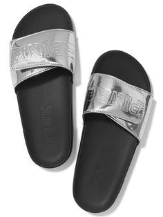 Victoria's Secret PINK Crossover Comfort Slide Sandals Shoes -- Check out this great product.