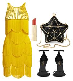 """Untitled #186"" by hillzbabez on Polyvore featuring Naeem Khan, Yves Saint Laurent and Aspinal of London"