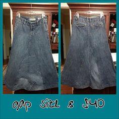Modest jean skirt by ModestyByAutumn on Etsy, $45.00