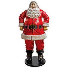 """Jolly Santa Claus"" Life-Size Statue: Grande scale | Design Toscano .com | Item# NE80089 | 37""w x 29""d x 74""h | 749.00 USD"