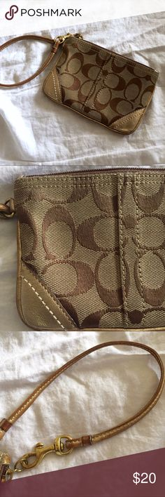 Coach wristlet Coach Signature wristlet. GUC. From a clean, smoke and pet hair free home. Coach Bags Clutches & Wristlets
