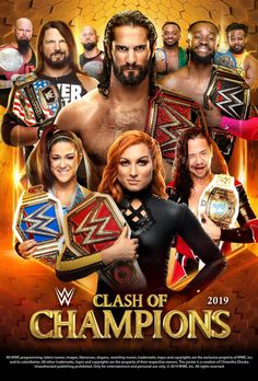WWE Clash of Champions 2019 Poster by Chirantha on DeviantArt Clash Of Champions, Wwe Champions, Wrestling Posters, Wrestling Wwe, Wwe Events, Wwe Ppv, Becky Wwe, Roman Regins, Wwe Pictures