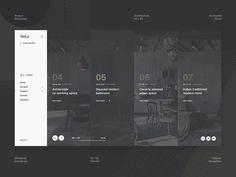 Ohio Concept - Project Showcase designed by Oleksandr Dremliuga. Connect with them on Dribbble; Best Website Design, Website Design Layout, Web Layout, Layout Design, Menu Design, Pag Web, Best Interior Design Websites, Powerpoint Design Templates, Web Ui Design