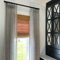 "Lori Ann Jones on Instagram: ""Did you know we offer woven wood shades? Did you know they pair perfectly with open-weave sheer drapes? Did you also know Laura Childers…"" Woven Wood Shades, Sheer Drapes, Open Weave, Ann, Weaving, Curtains, Instagram, Home Decor, Blinds"