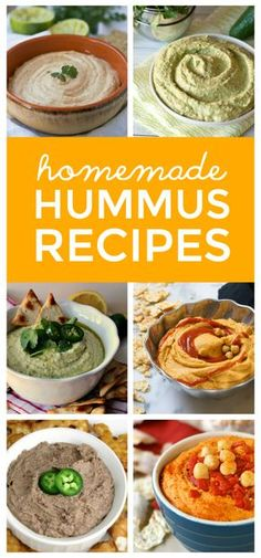 Over 40 simple Homemade Hummus Recipes ~ Delicious, nutritious hummus recipes that you can make in the comfort of your own home! ~ from This Gal Cooks