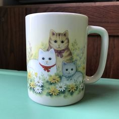 Otagiri Mug With Three Cats Kittens Japan Cat Lover   Collectibles, Decorative Collectibles, Mugs, Cups   eBay!